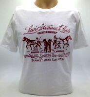 $99 Levi'S Men`S White Red Logo Graphic Cotton Short-Sleeve Crew-Neck T-Shirt M