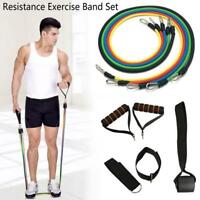 11Pcs Resistance Exercise Band Yoga Pilates Abs Fitness Tube Workout Bands Best