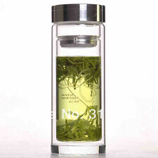 320ml Tea Leaf Infuser Double-Walled Glass Water Travel Car Bottle Thermos