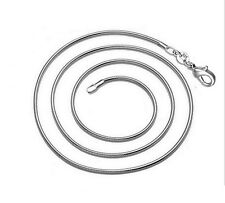 1Pcs 2MM 925 Silver Snake Necklace Fit Chain European Charm Bead 24inch 61cm