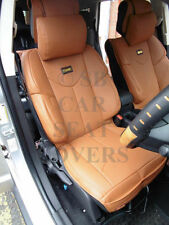 i - TO FIT A FIAT 124 SPIDER CAR, SEAT COVERS, YMDX TAN, SB BUCKET SEATS