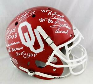 Brian Bosworth Signed OU Sooners F/S Speed ProLine Helmet w/5 Insc- Beckett Auth