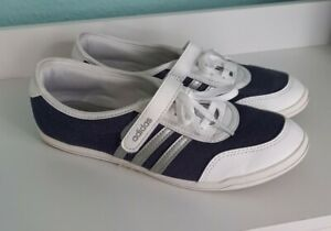 Adidas Piona * Ballerinas * Gr. 37,5 * Weiß Blau Silber