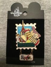 Rare Old Le Disney Pin Epcot Stamp #4 Germany Snow White Dwarf Dopey Dangle