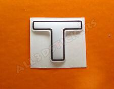 Pegatina Letra T 3D Color Blanco Tamaño 25mm