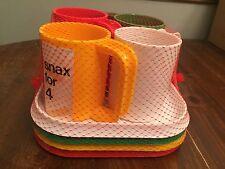 Set of 4 Ingrid Snack Plates & Mugs Camper Picnic ~ Multi-Color ~ New in Package