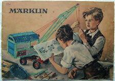 Vintage MÄRKLIN Katalog 1952 Sammlerstück 171a Metallbaukasten Stücklisten