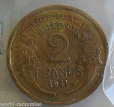 2 francs morlon 1941 : TB : pièce de monnaie française