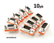 10-PACK DB9 Mini NULL MODEM Male/Female Data Transfer Adapter