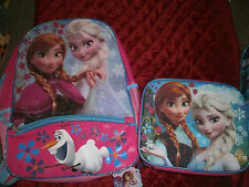 FROZEN ELSA OLAF & ANNA  SOFT LUNCHBOX  AND BACKPACK pink