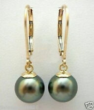 natural southsea saltwater BLACK SHELL PEARL earring