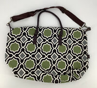 New! Lulu Dharma Green Black Weekend Overnight Bag Duffle Travel Carry on Tote