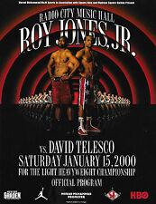 ROY JONES Jr. vs. DAVID TELESCO On-site Boxing Program 01/15/2000  NM Condition