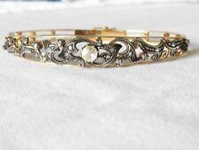 Exclusiv Armreif Gold 585 Diamantrosen 0,86 ct Antik Jugendstil Sammler