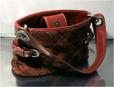 Authentic Tommy Hilfiger Purse Bag - Scottish Check Fabric Pattern - Red
