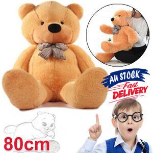 80cm Giant Teddy Bear Cuddly Gift Stuffed Doll Christmas Plush Brown Animal ACB#