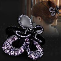 Women Crystal Grip Hair Claw Hair Clip Girls Rhinestone Crab Claw Jaw Clamp Lot