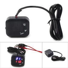 Air Temperature Gauge LED Voltmeter Voltage Thermometer Meter USB Motorcycle