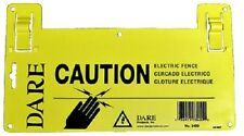 """New listing Dare, 6 Pack, 5-1/2"""" x 9"""", Yellow, Large Electric Fence Warning Sign"""
