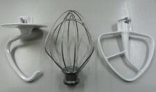 KITCHENAID KSM150 Artisan Mixer Set - Flat Beater, Wire Whip, Dough Hook GENUINE