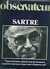 Le Nouvel Observateur # 806 1980 Mort de Jean Paul SARTRE Ecrivain littérature