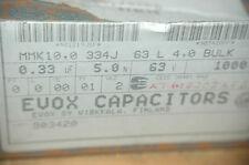 MMK10.0334J63L4.0 EVOX 0.33UF 63V 5.0% Radial Film Capacitor Quantity-100