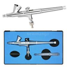 Dual-Action Gravity Feed 0.25mm Nozzle 2cc Airbrush Kit For Nail Art Tattoo I0S7