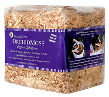 Supermoss Orchid/Nursery Sphagnum Moss Dried Off White Natural Mini Bale