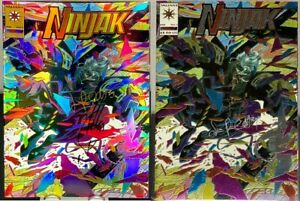 NINJAK #1 Gold Variant & Standard BOTH SIGNED x2 Quesada Palmiotti ULTRA RARE NM