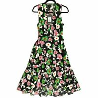Who What Wear Womens Sleeveless Floral Wrap Maxi Dress NWT Small