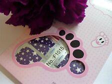 Nail Art Self Adhesive Full Toe Nails Polish Wrap Sticker Star Stripes Tip 1015T