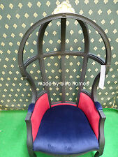 Designer Hooded Canopy Baloon Chair , Artistic showhouse piece mahogany wood
