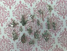 "USA SELLER~ 15 Disney Inspired Tibetan Silver Charms ""Set 3"" Mickey White Rabbit"