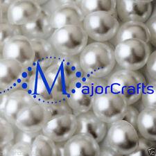 White Round 12 - 12.9 mm Size Jewellery Making Craft Beads