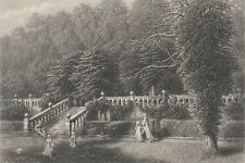 1873  Antique Engraving - Haddon Hall, Buckinghamshire - Seat of Duke of Rutland