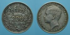 PORTOGALLO 200 REIS 1909 MANUEL II qSPL 1