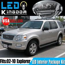 17X For Ford Explorer 2002-2010 Car Interior LED Light Package Deal Combo White