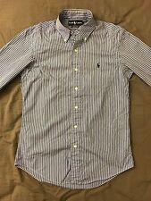 Polo Ralph Lauren men's shirt striped blue SMALL custom fit