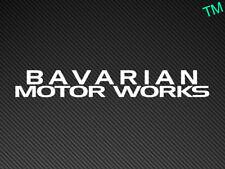 BAVARIAN MOTOR WORKS (Style 2) BMW Car Sticker M3 M5 E30 E36 E46 E39 E92 Decal