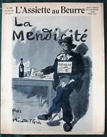 L'Assiette au Beurre #278  Begging 1906 French Society Satire Art