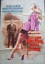 LOVE IS MY PROFESSION EN CAS DE MALHEUR German A1 movie poster BRIGITTE BARDOT
