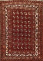 Antique Geometric Tribal Balouch  Afghan Oriental Area Rug Hand-knotted Wool 5x6
