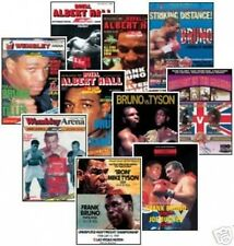 Frank Bruno Boxing Programme Cover Trading Card Set FREE UK POSTAGE
