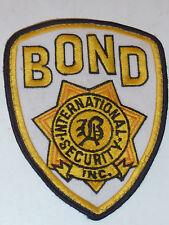 vintage PATCH Insigne ecusson BOND international security inc POLICE usa US