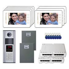 """Home Entry Door Security Video Intercom System Kit with (7) 7"""" Color Monitors"""
