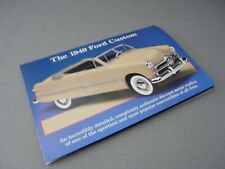 Brochure Only(No Car)-1/24-Danbury Mint-1949 Ford Custom Convertible