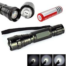 WF-501B 6000LM CREE XM-L T6 LED Flashlight Camping Torch + 18650 Battery C+