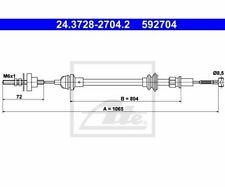 ATE Clutch Cable 24.3728-2704.2