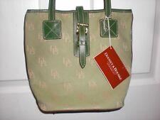 Rare 1990's Dooney & Bourke Green Little Bucket Bag Original Tag