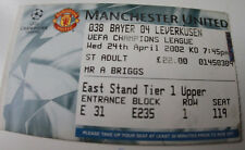 Ticket for collectors CL Manchester United Bayer Leverkusen 2002 England Germany